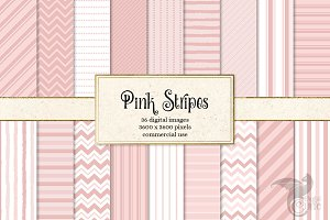 Pink Stripes Backgrounds & Overlays