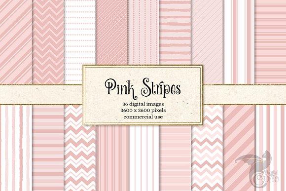 Pink Stripes Backgrounds & Overlays