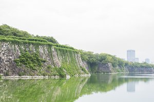 moat of osaka castle
