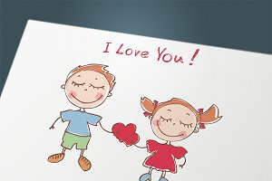 "Doodles ""i love you"""