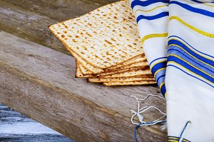 Background with matzo and for Jewish