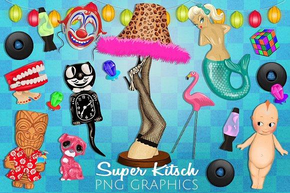 Super Kitsch Retro Graphics Set