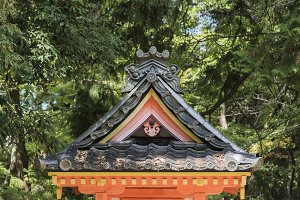 small japanese shrine building