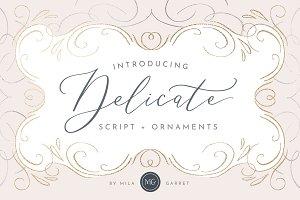 Delicate Elegant Script Ornaments
