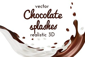 Chocolate 3d vector illustration
