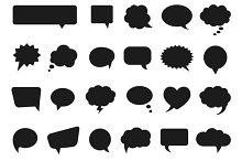 Talk and think vector comics bubbles