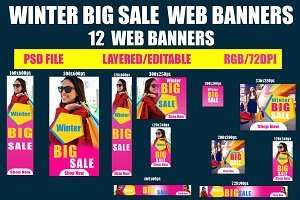 Winter Big Sale  Web banners