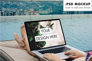 Web design mockup pool