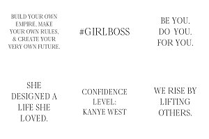 Girlboss Quote Social Media Graphics