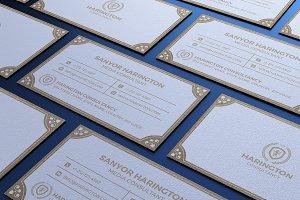Elegant Kraft Business Card