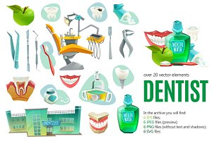 Dentist Cartoon Set