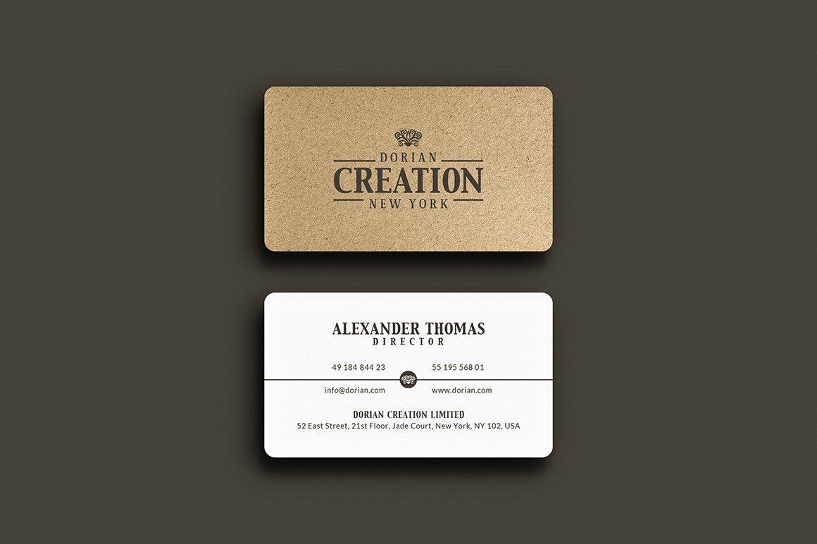 Kraft Paper Business Card ~ Business Card Templates ~ Creative Market