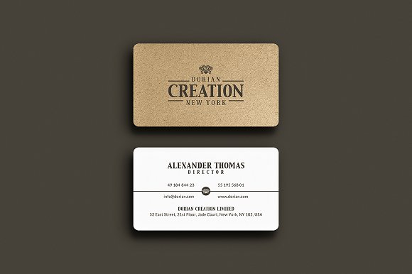 Kraft paper business card business card templates creative market reheart Choice Image