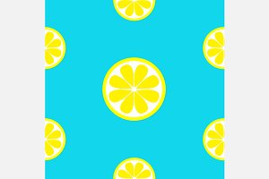 Lemon fruit Seamless Pattern