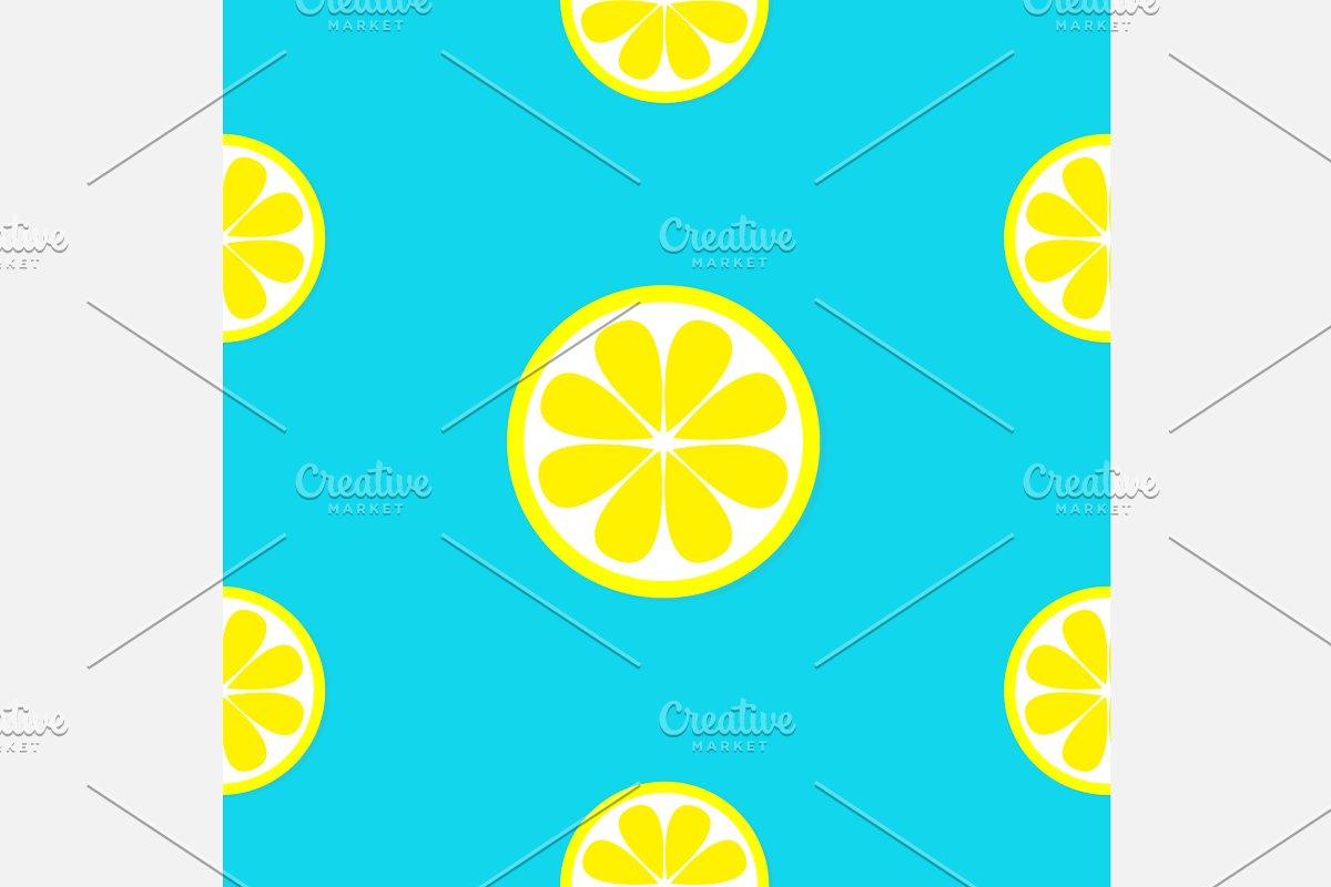 Lemon fruit Seamless Pattern