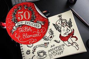 HandSketched Elements & Logos