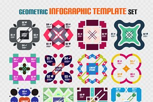 16 geometric infographics set 1