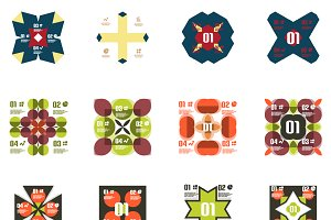 16 geometric infographics set 2