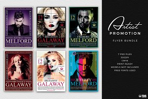 Artist Promotion Flyer Bundle