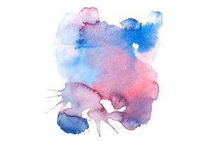 colorful retro vintage abstract watercolour aquarelle paint.