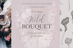 Wild Bouquet Wedding Illustrations