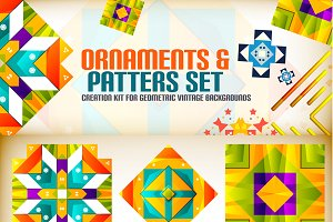 Ornaments and patterns set 1