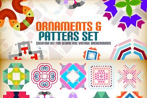 Ornaments and patterns set 2