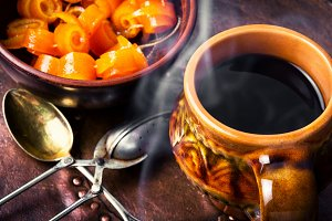 Orange jam for tea
