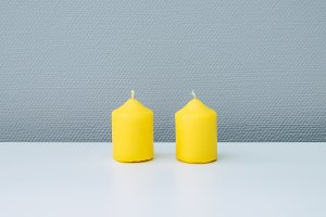 tiny yellow candles
