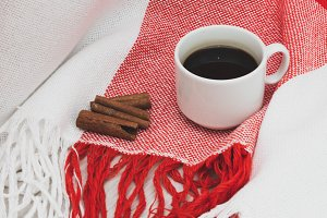 coffee and cinnamon sticks