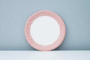 White paper plate mock up