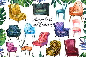 Watercolor Armchair collection.