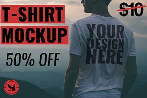 [-50%] T-SHIRT MOCKUP - MOUNTAIN TOP