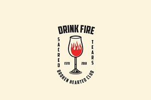 Drink Fire Logo Template