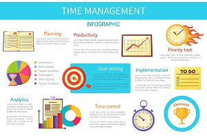 Time Management Bright Inforaphic Internet Poster