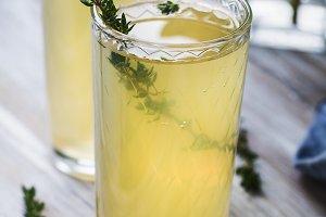 Italian beverages limoncello