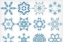 Vector snowflakes set 2