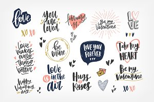Valentine's day letterings
