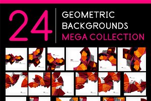 24 geometric backgrounds set 1