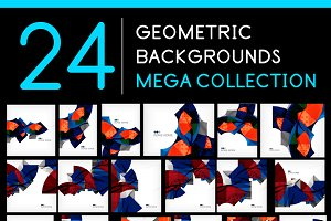 24 geometric backgrounds set 3