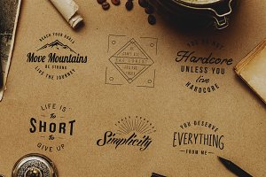 Motivational Retro Vintage Badges