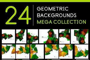 24 geometric backgrounds set 4
