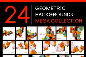 24 geometric backgrounds set 5