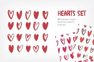 Hearts - symbols for Valentine's day