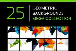 25 abstract geometric backgrounds 1