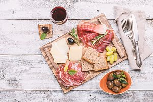 Typical italian antipasto
