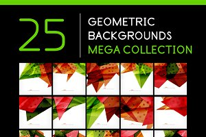 25 abstract geometric backgrounds 2