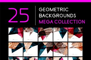 25 abstract geometric backgrounds 3
