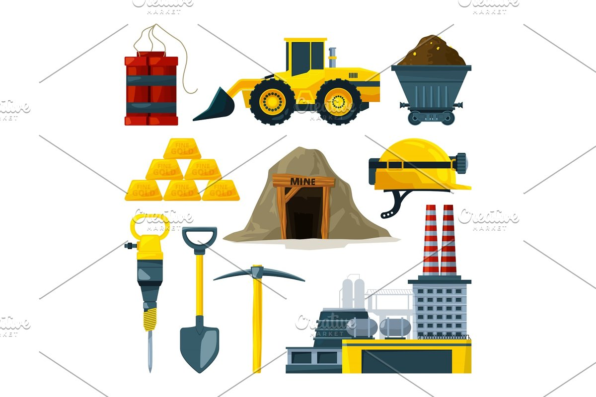 Vector tools for gold mining and minerals