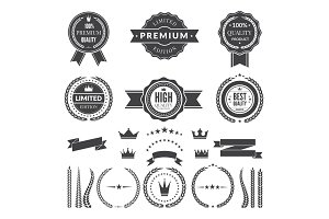 Design template of premium badges or logos